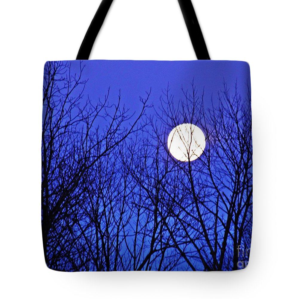 Moon Tote Bag featuring the photograph Moon by Sarah Loft