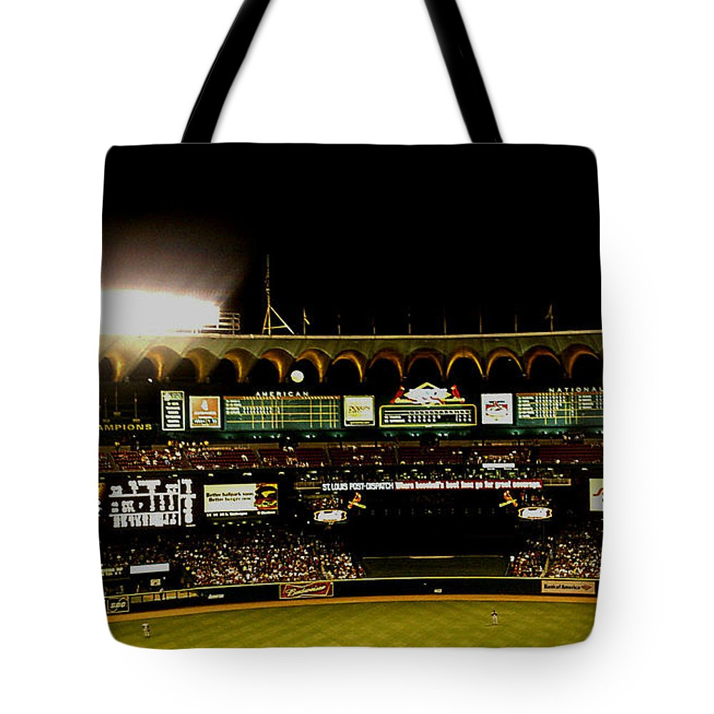 Tote Bag featuring the photograph Moon In The Arches Edited 2 by Kelly Awad