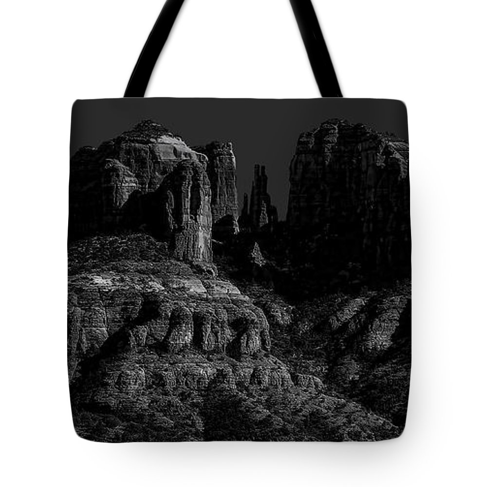 Moon Tote Bag featuring the photograph Moonlight Cathederal by Jon Burch Photography