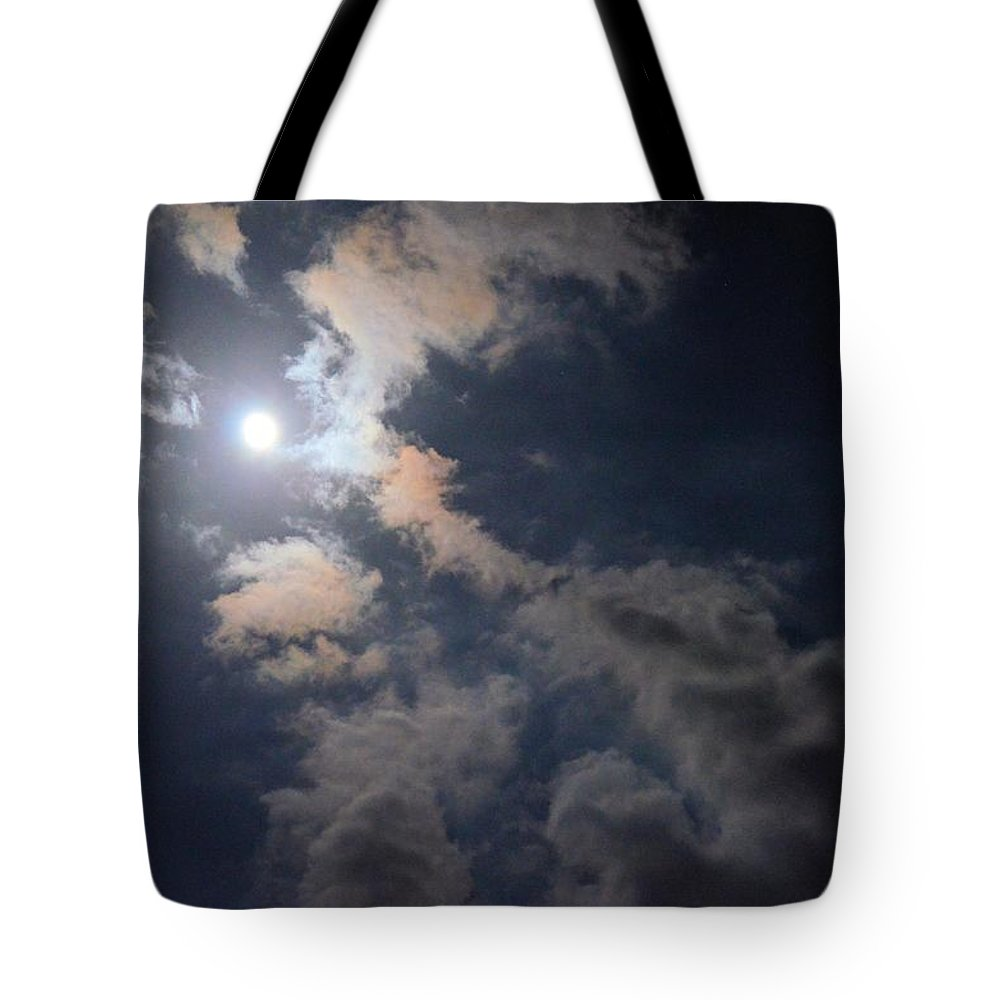 Moonlight Madness Tote Bag featuring the photograph Moonlight Madness by Maria Urso