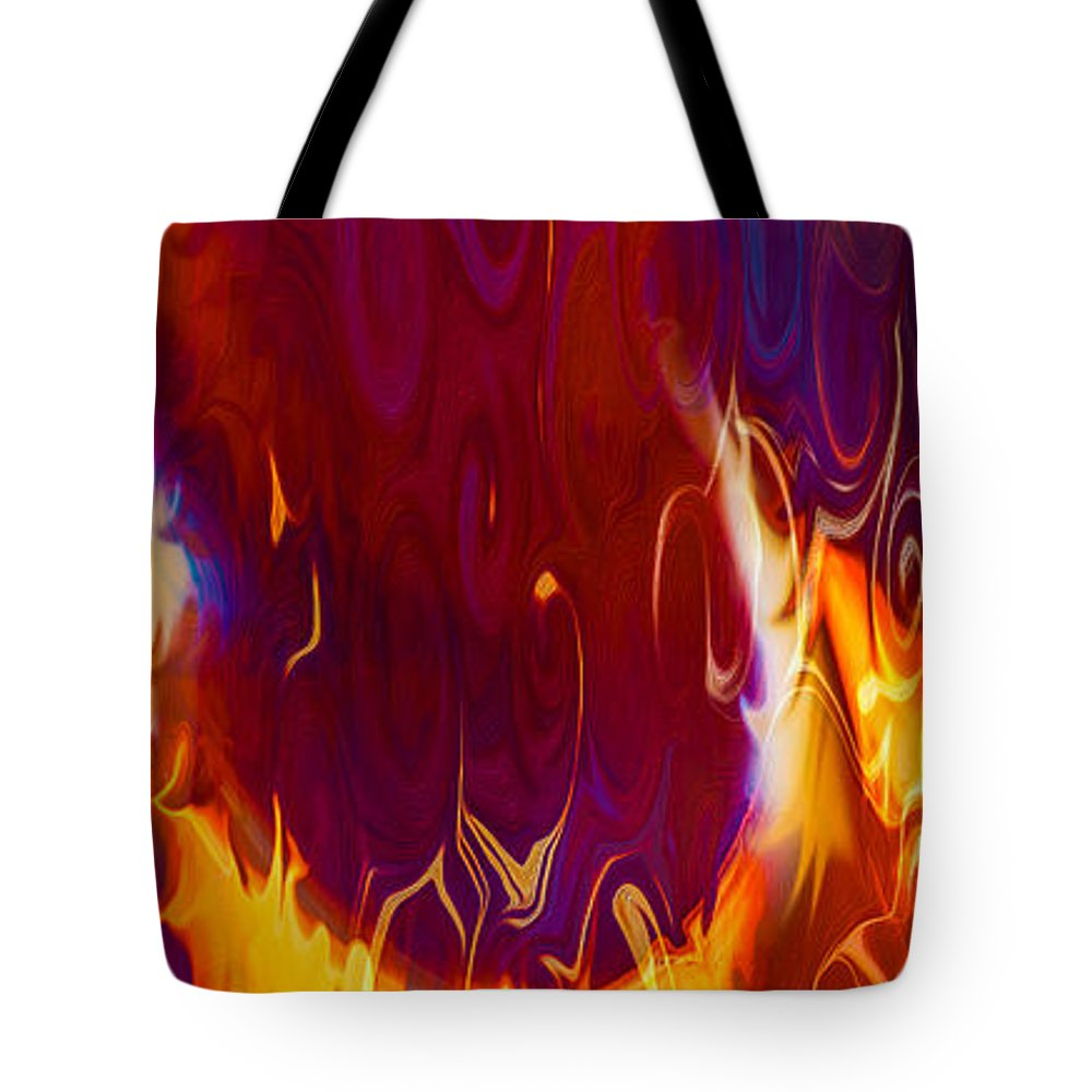 Georgia Okeefe Tote Bag featuring the painting Moonlight Serenade I by Omaste Witkowski
