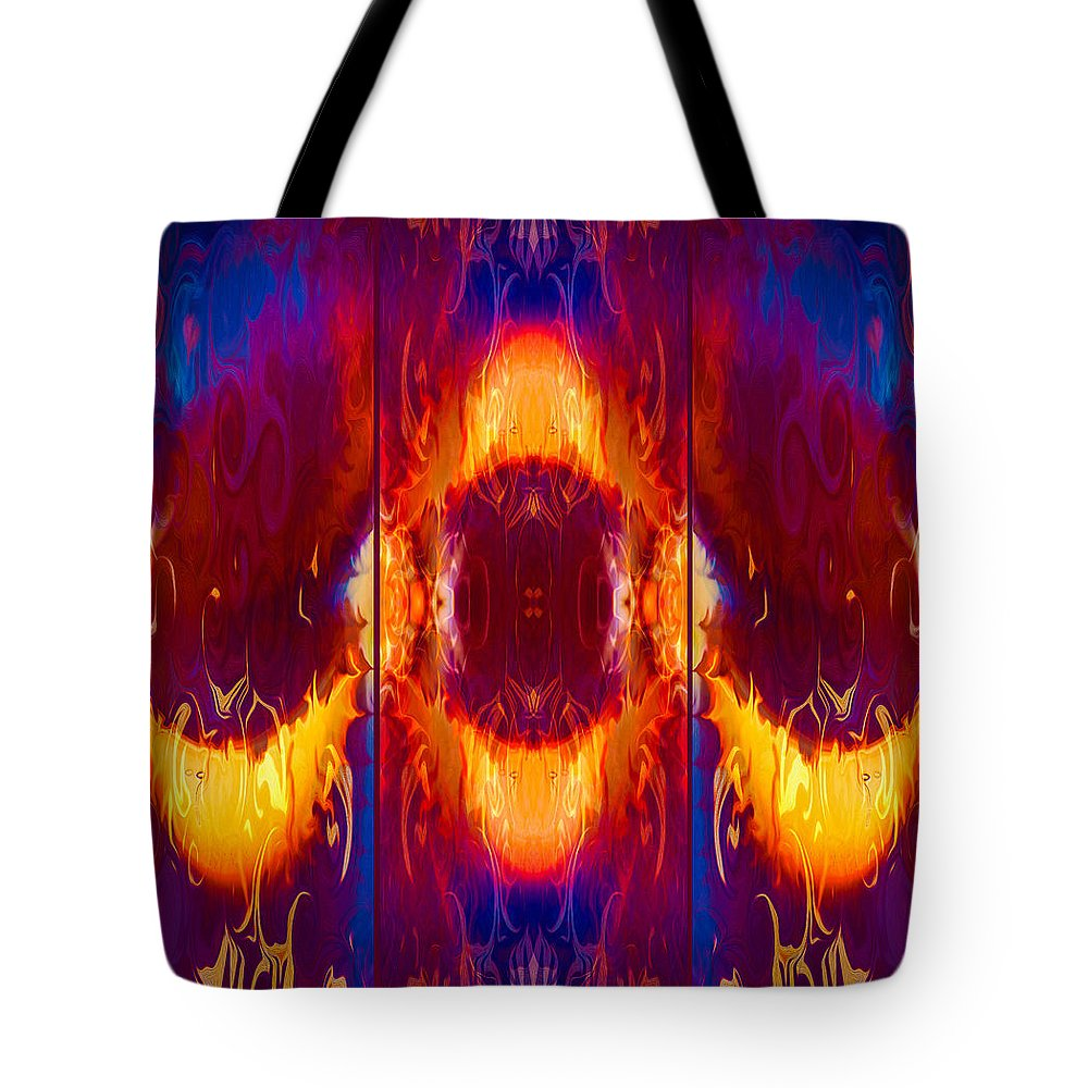 Georgia Okeefe Tote Bag featuring the painting Moonlight Serenade by Omaste Witkowski