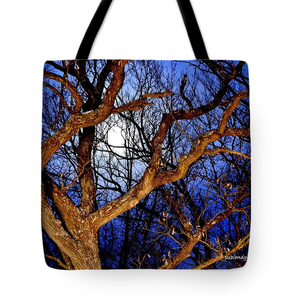 Full Moon Tote Bag featuring the photograph Moonshine 4 by Susie Loechler