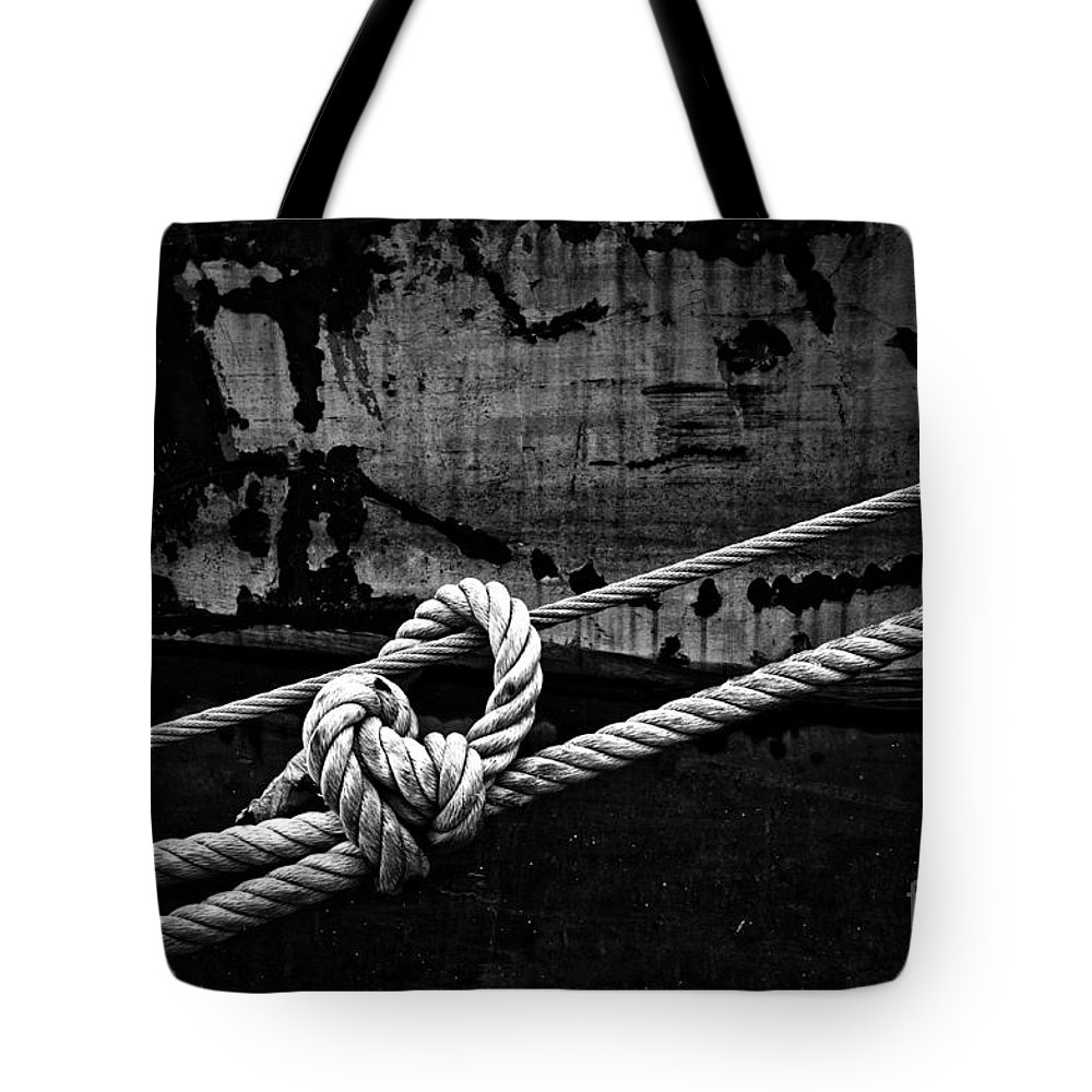 Rope Tote Bag featuring the photograph Moored by Brothers Beerens