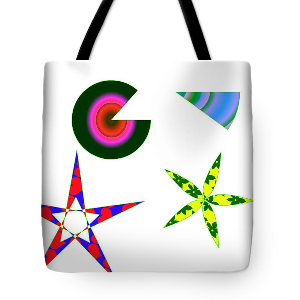 Abstract Tote Bag featuring the painting More Fun by Bruce Nutting