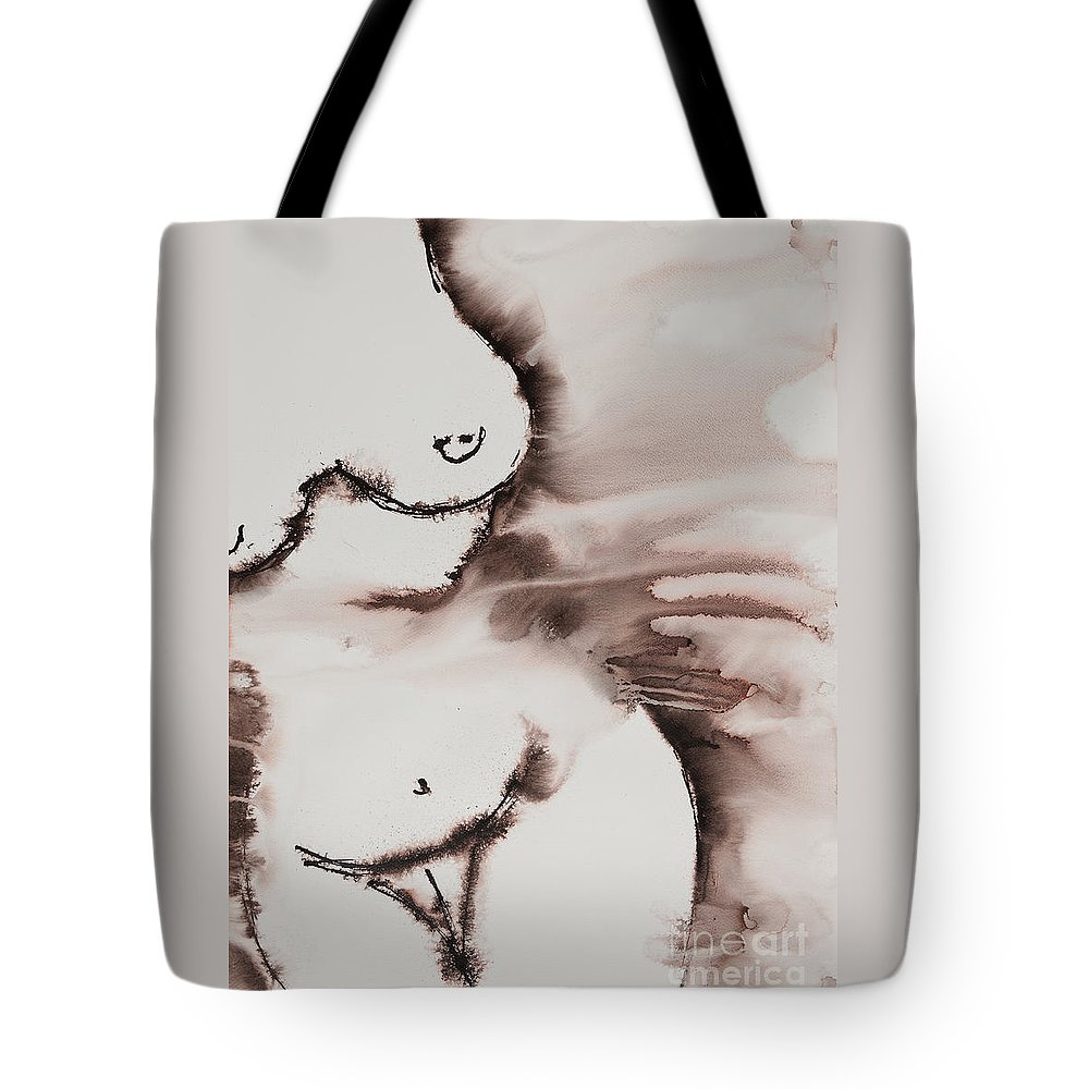Ilisa Millermoon Tote Bag featuring the painting More Than Series No. 1398 by Ilisa Millermoon