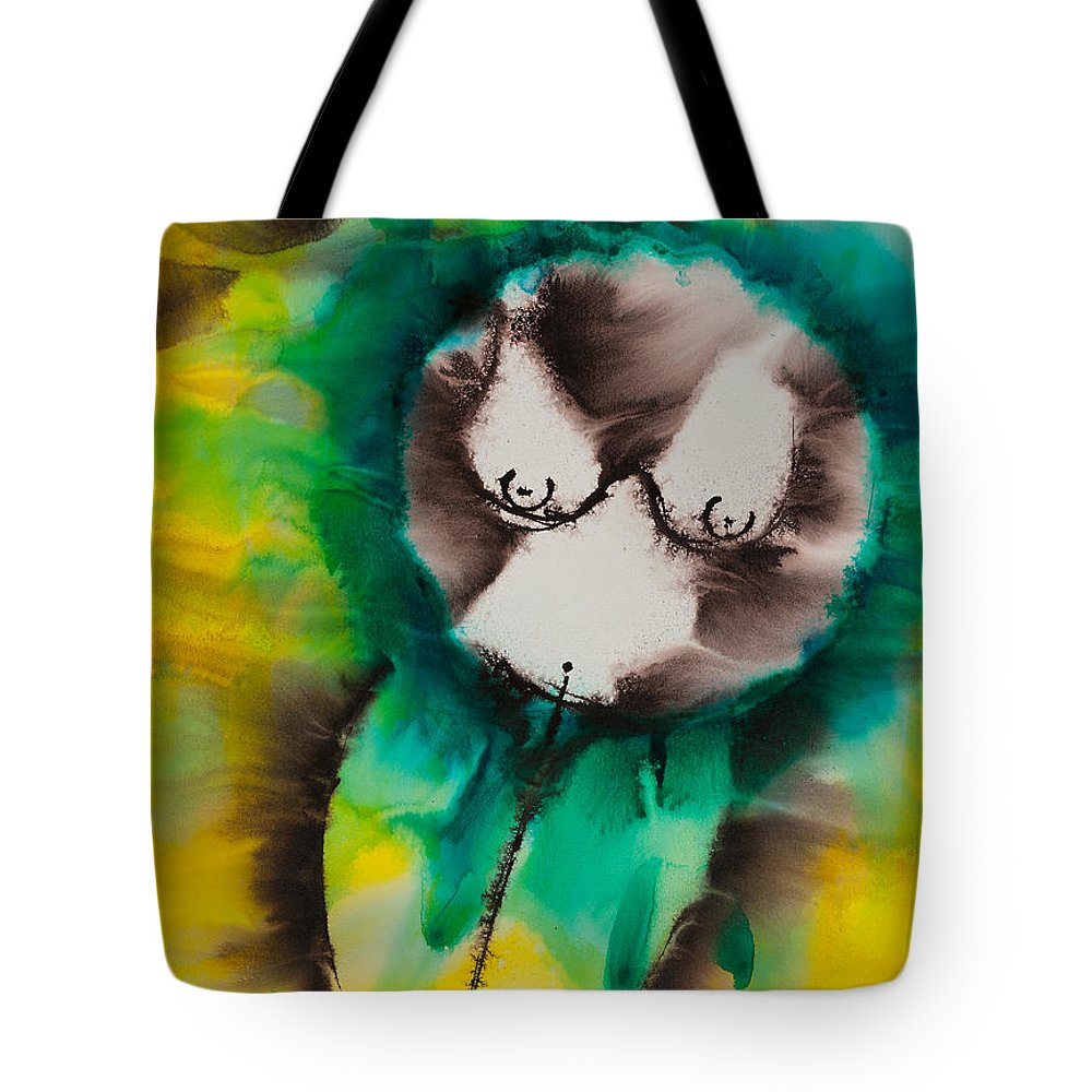 Ilisa Millermoon Tote Bag featuring the painting More Than Series No. 1421 by Ilisa Millermoon