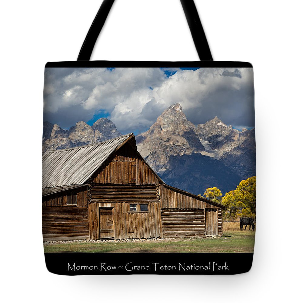 Mormon Tote Bag featuring the photograph Mormon Row Poster by Kathleen Bishop