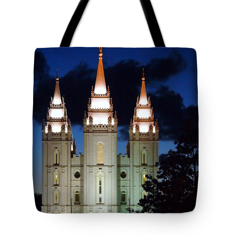 Mormon Temple Tote Bag featuring the photograph Mormon Temple Lds Utah by Jennifer Craft