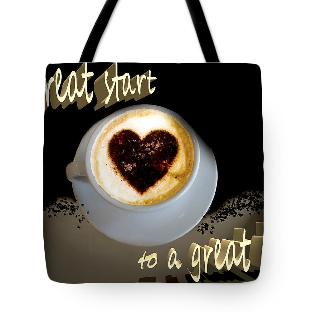 Coffee Tote Bag featuring the photograph Mornin' World by Pennie McCracken