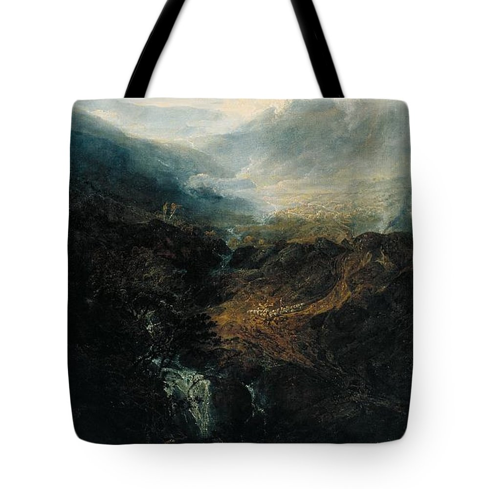 1798 Tote Bag featuring the painting Morning Amongst The Coniston Fells by JMW Turner