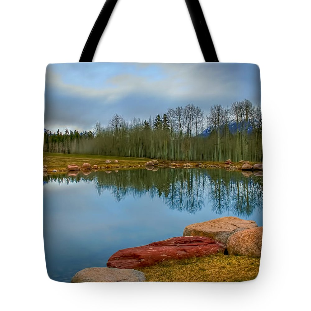 Colorado Tote Bag featuring the photograph Morning Calm by Tom Weisbrook