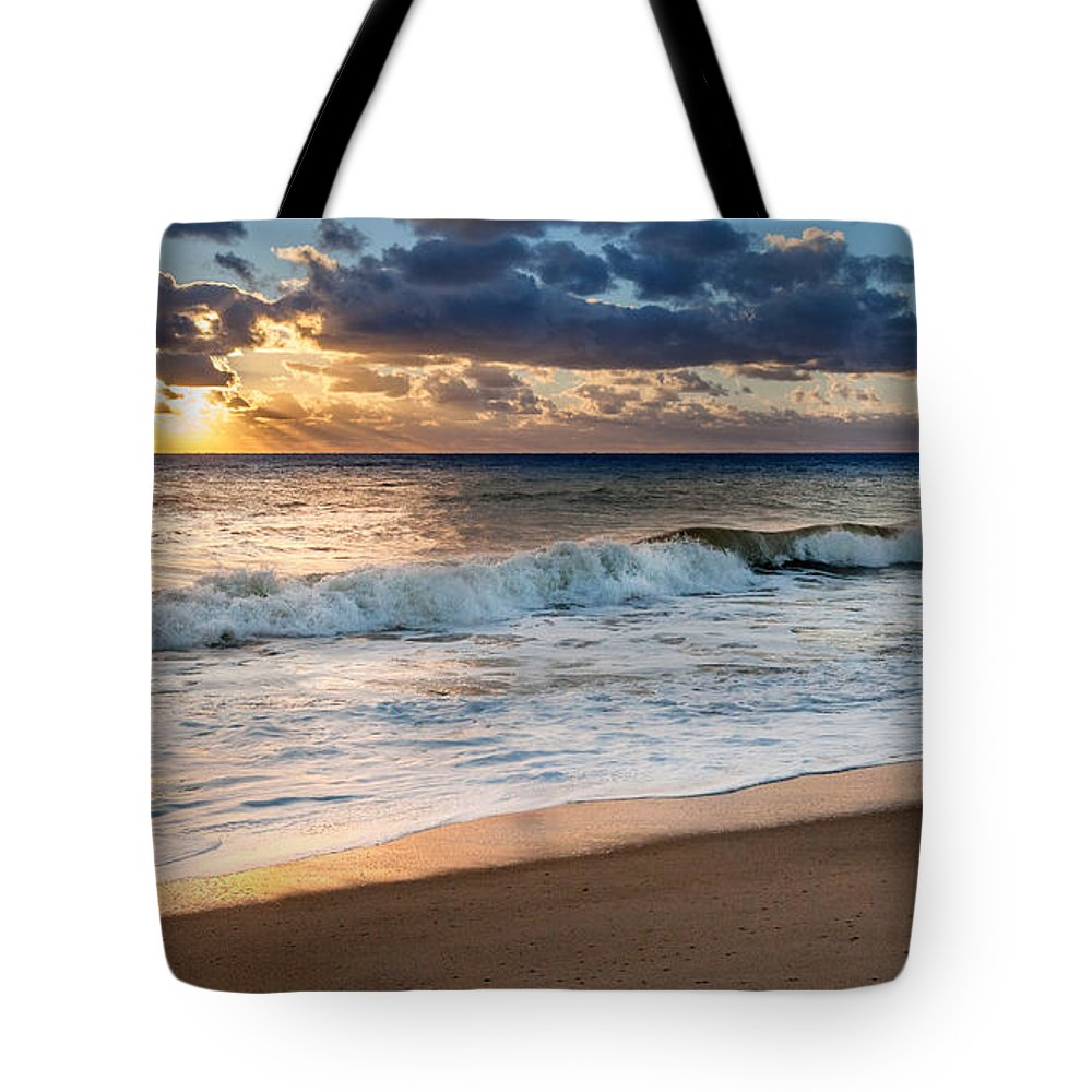 Cape Cod National Seashore Tote Bag featuring the photograph Morning Clouds by Bill Wakeley