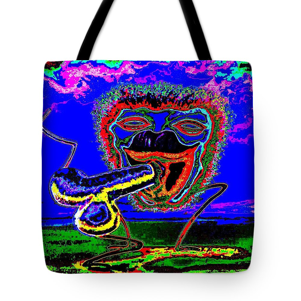 Genio Tote Bag featuring the mixed media Morning Contentment by Genio GgXpress