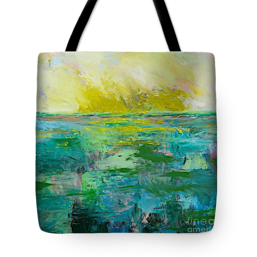 Decor Tote Bag featuring the painting Morning Dew by Allan P Friedlander