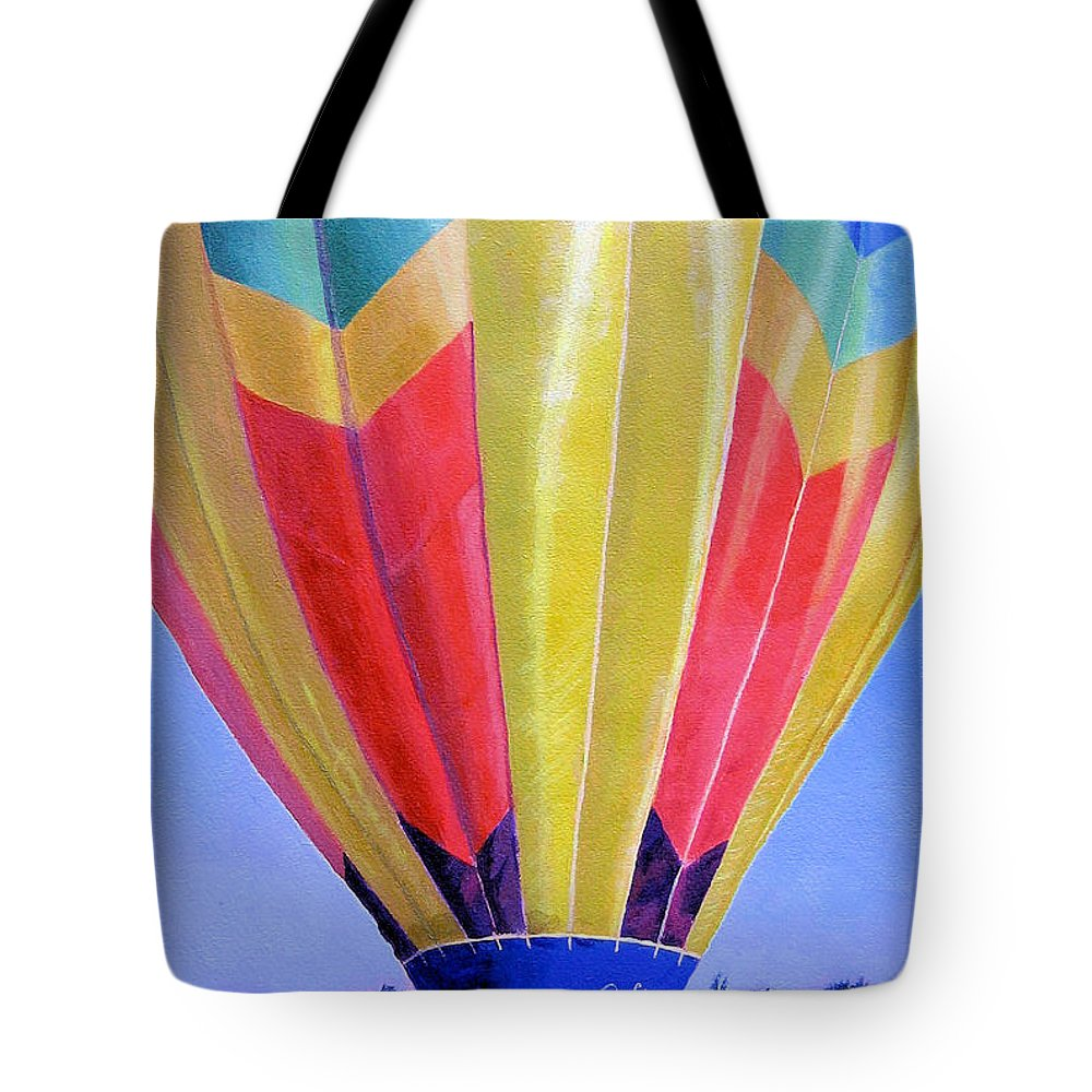 Acrylic Tote Bag featuring the painting Morning Flight by Lynne Reichhart