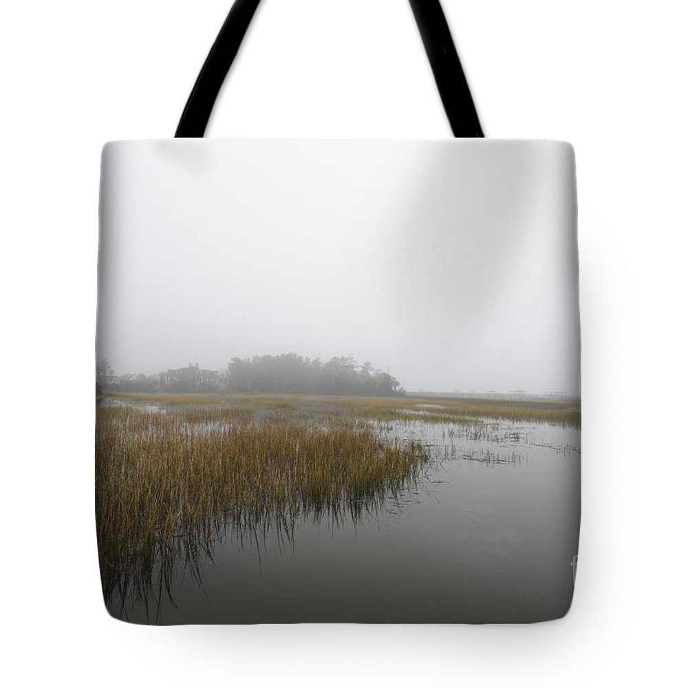 Fog Tote Bag featuring the photograph Morning Fog by Dale Powell