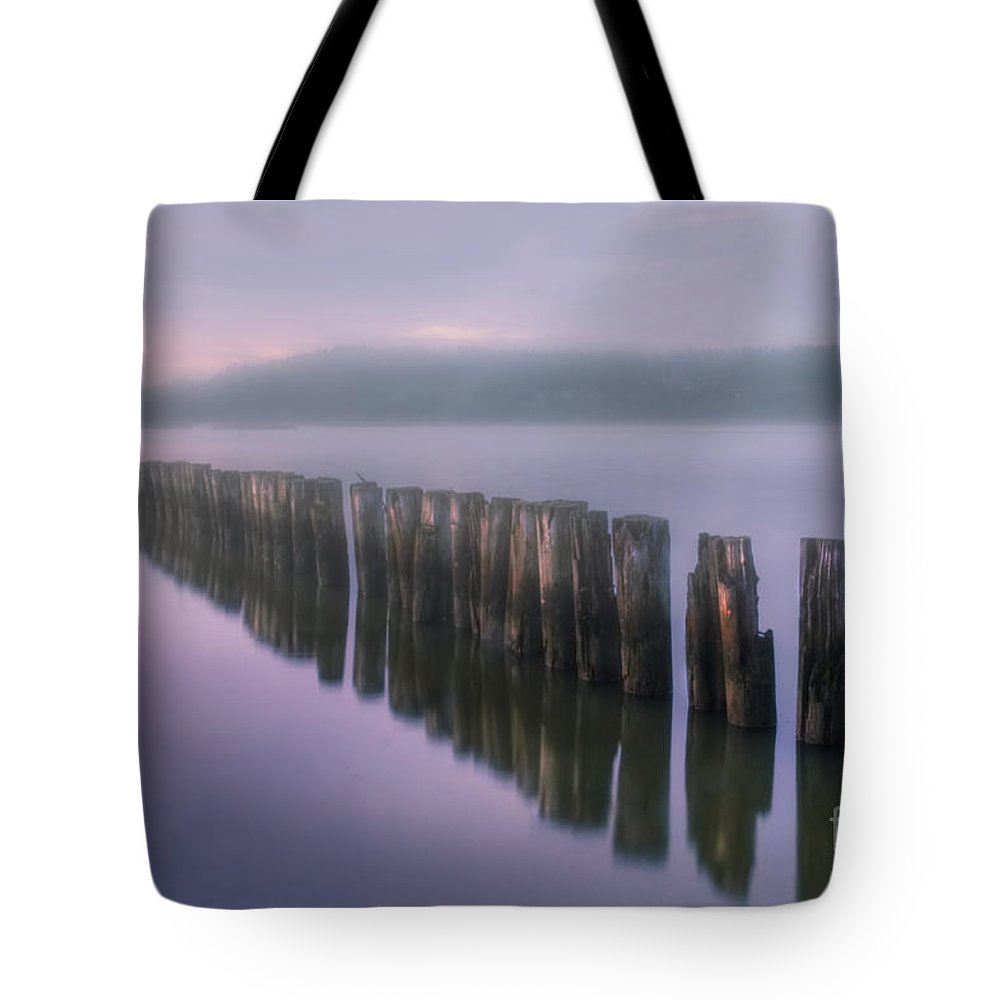 Art Tote Bag featuring the photograph Morning Fog by Veikko Suikkanen