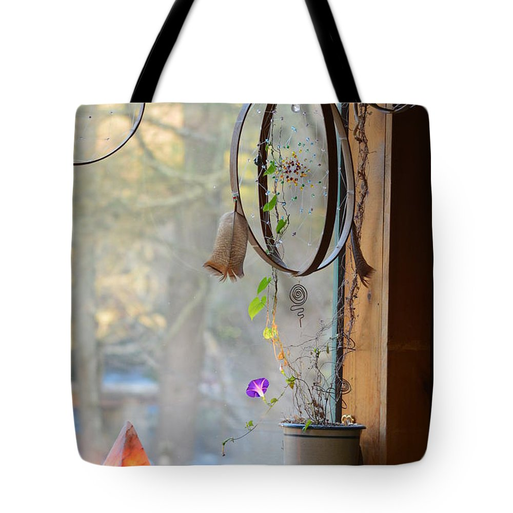 Dream Catcher Tote Bag featuring the photograph Morning Glory Dreams by Thomas Phillips