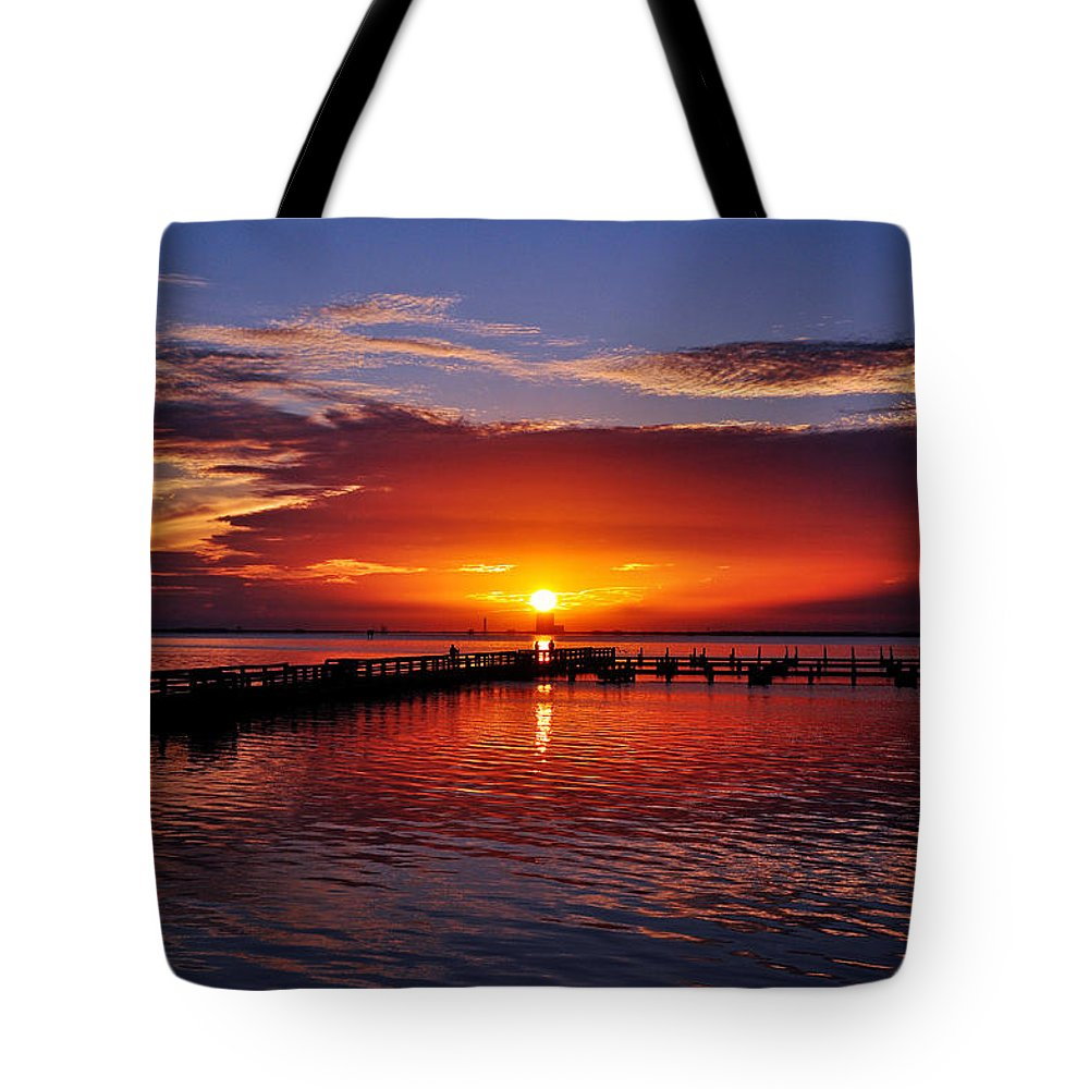Sunrise Tote Bag featuring the photograph Morning In Red by Davids Digits