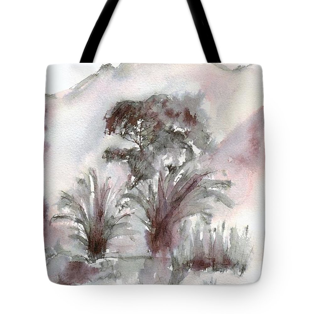 Garden Tote Bag featuring the drawing Morning by Karina Plachetka