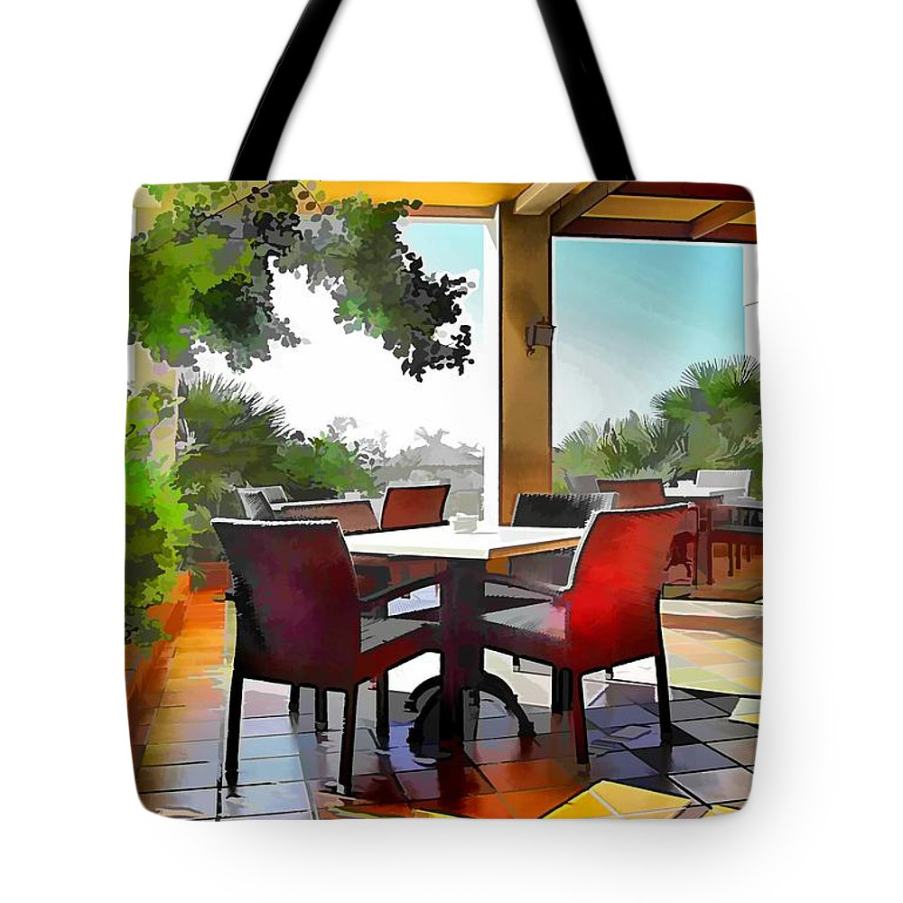 Cafe Tote Bag featuring the photograph Morning Light by John Lynch