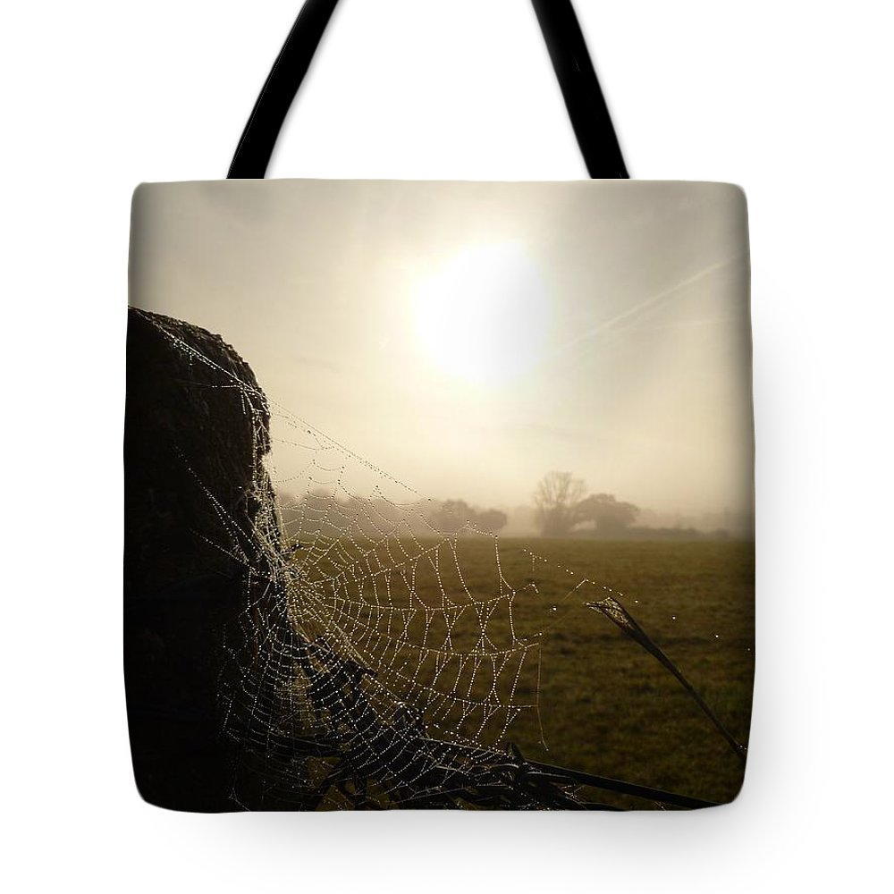 Morning Tote Bag featuring the photograph Morning Mist by Vicki Spindler