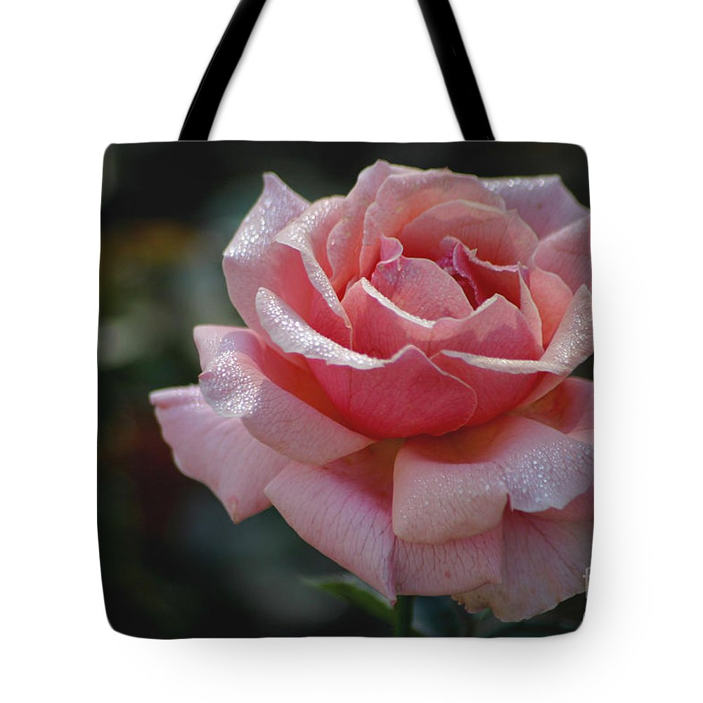 Rose Tote Bag featuring the photograph Morning Sparkles by Living Color Photography Lorraine Lynch