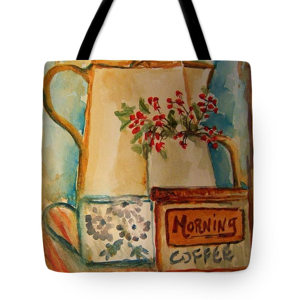 Coffee Tote Bag featuring the painting Morning Still by Elaine Duras