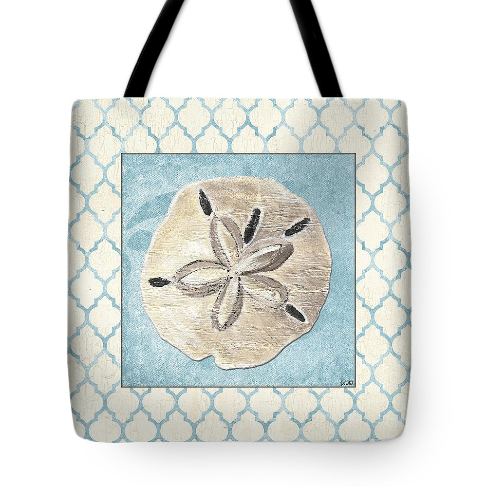 Shell Tote Bag featuring the painting Moroccan Spa 2 by Debbie DeWitt