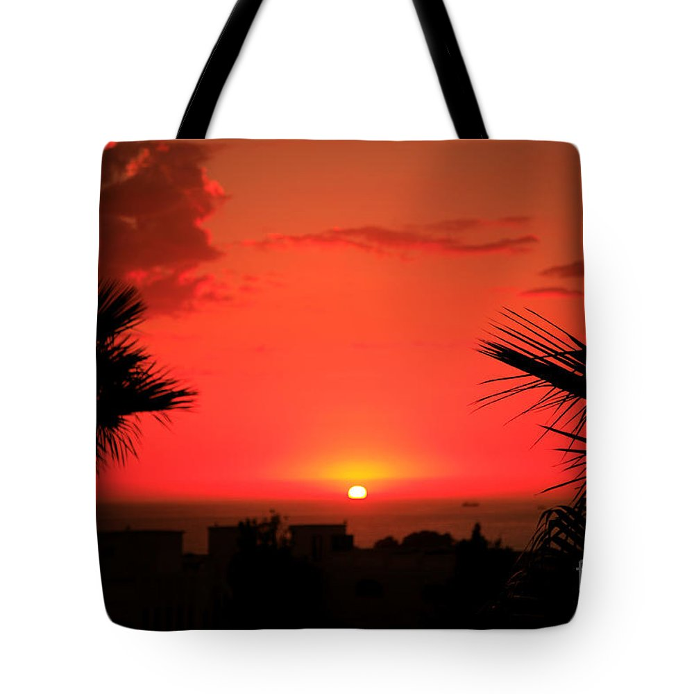 Africa Tote Bag featuring the photograph Moroccan Sunset by Deborah Benbrook