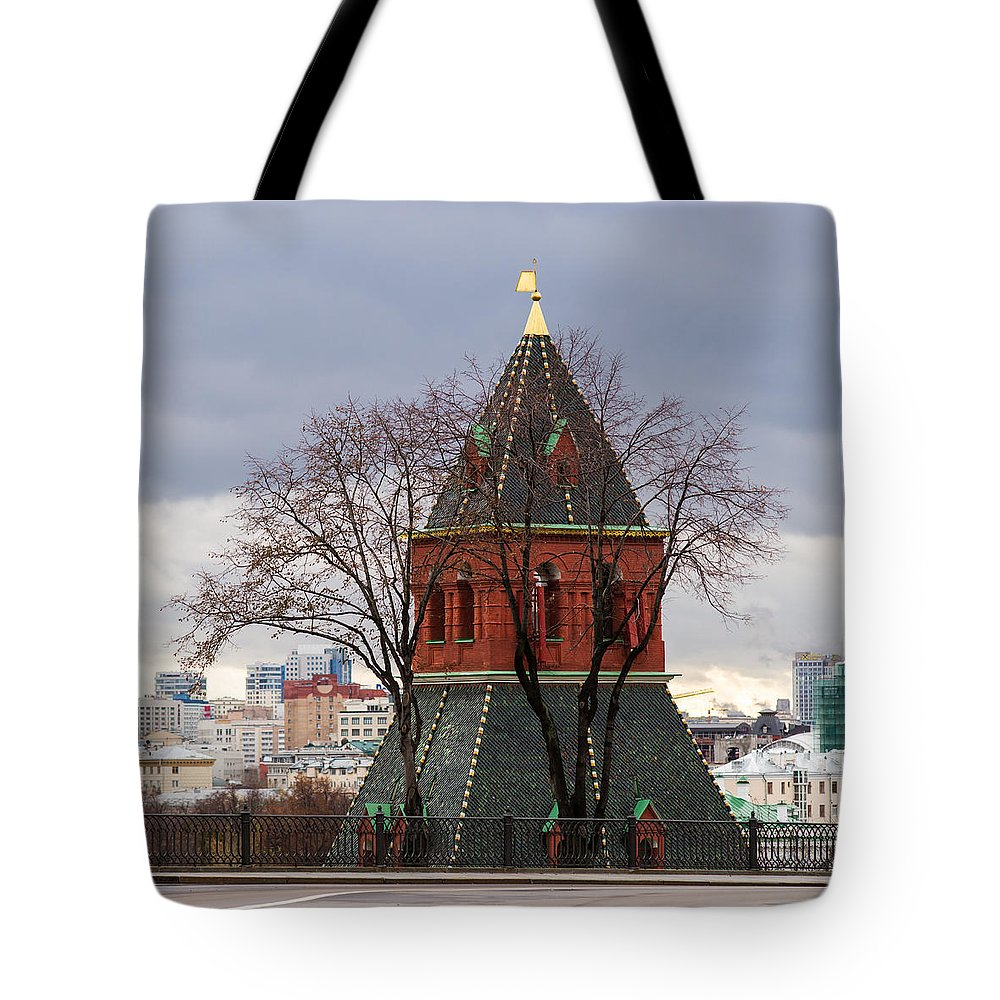Architecture Tote Bag featuring the photograph Moscow As Viewed From The Kremlin - Square by Alexander Senin