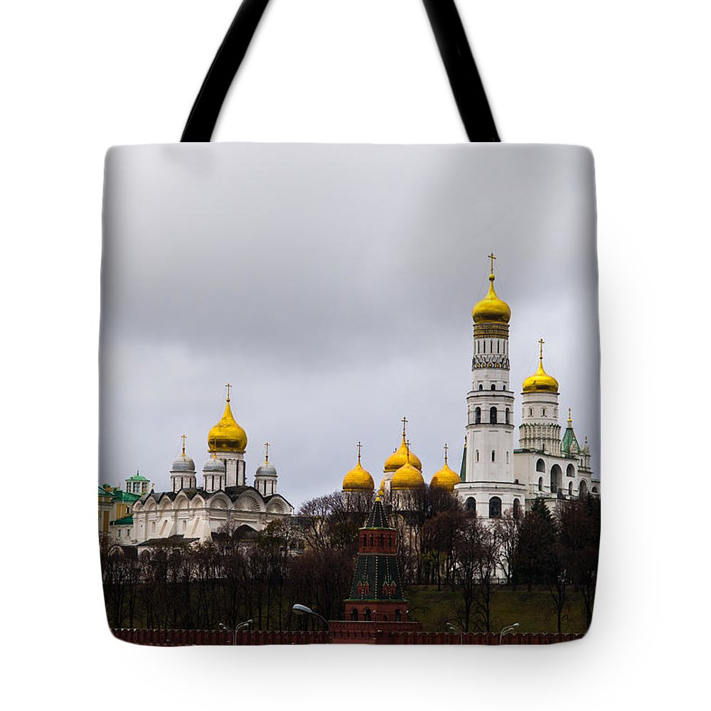 Archangel Tote Bag featuring the photograph Moscow Kremlin Cathedrals - Featured 3 by Alexander Senin