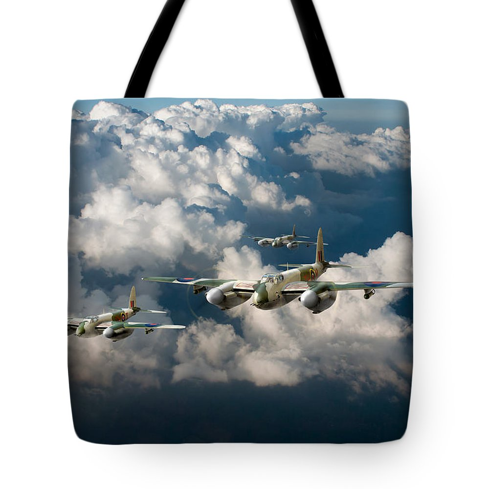 Dh Mosquito Tote Bag featuring the digital art Mosquitos Above Clouds by Gary Eason
