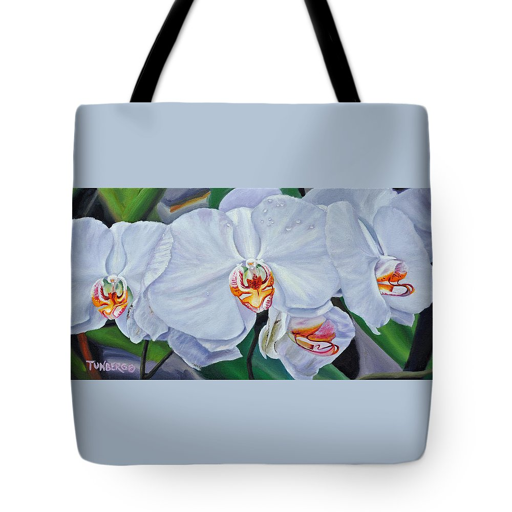 Plant Tote Bag featuring the painting Moth Orchids by Gail Tunberg