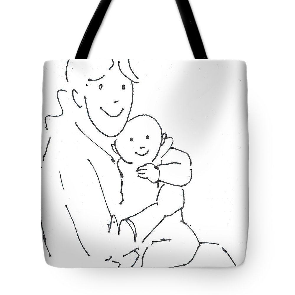 Mother And Baby Cartoon Tote Bag For Sale By Mike Jory