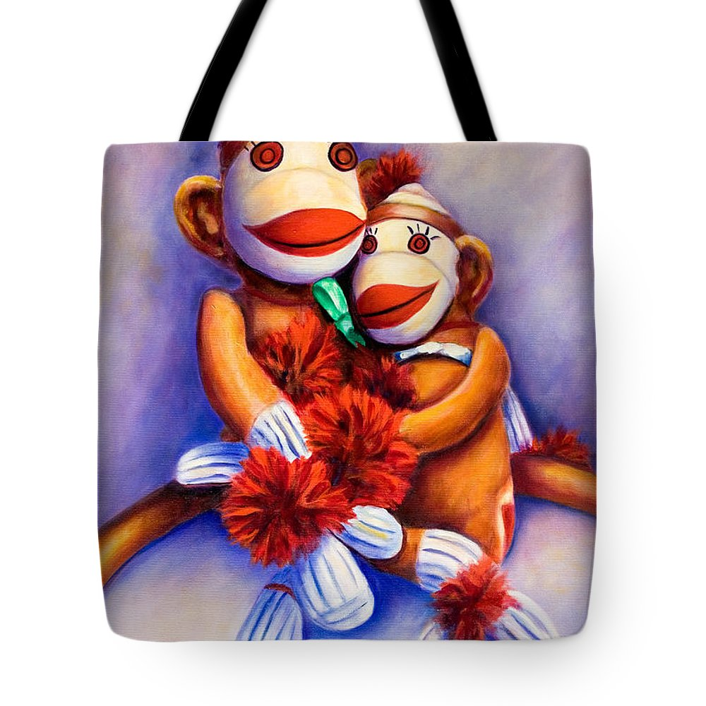 Children Tote Bag featuring the painting Mother And Child by Shannon Grissom