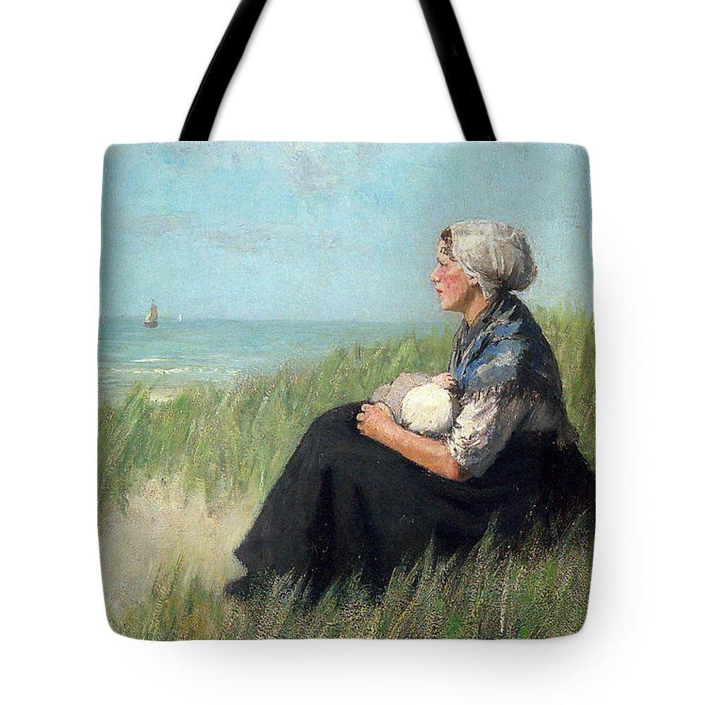 David Adolf Constant Artz Tote Bag featuring the digital art Mother In The Dunes by David Adolf Constant Artz
