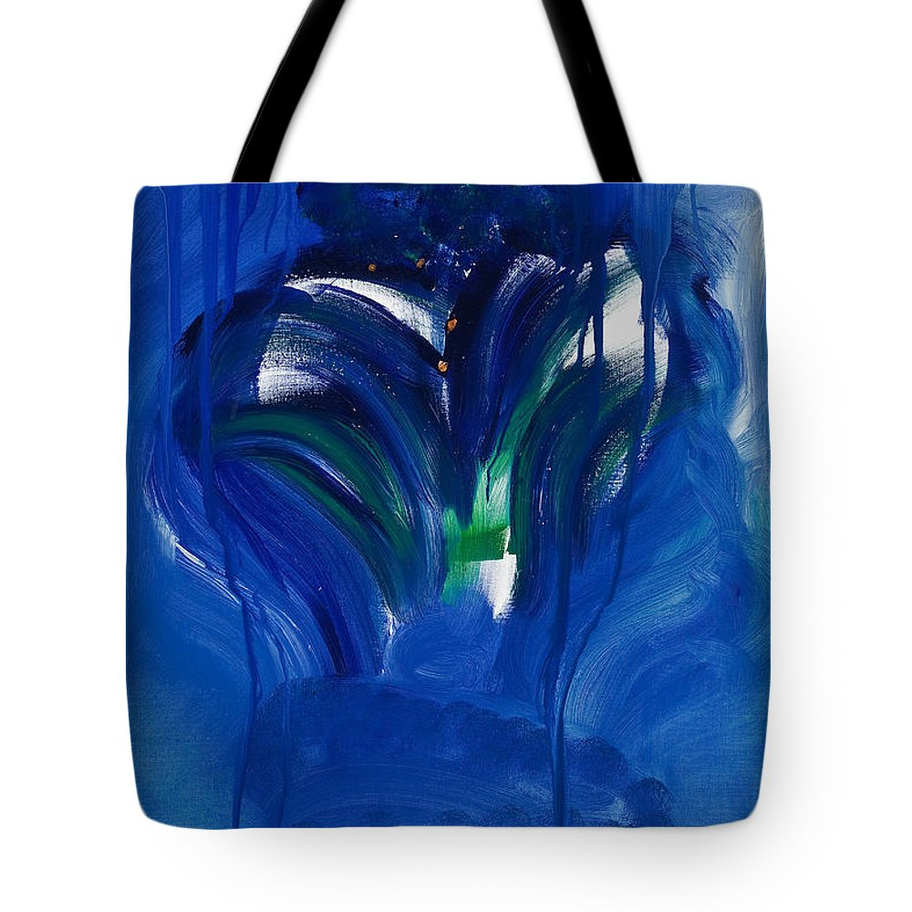 Mother Mary Tote Bag featuring the painting Mary by Jay Kyle Petersen