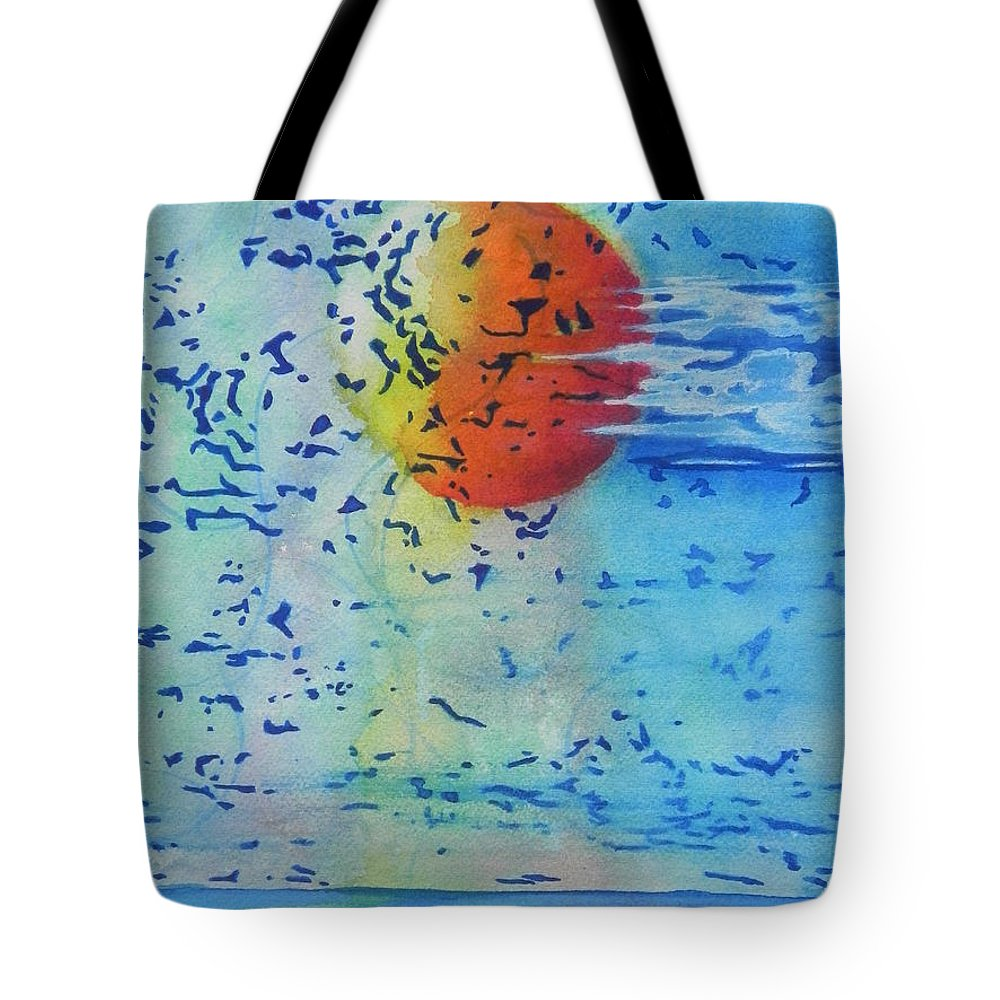 Fine Art Painting Tote Bag featuring the painting Mother Nature At Her Best by Chrisann Ellis