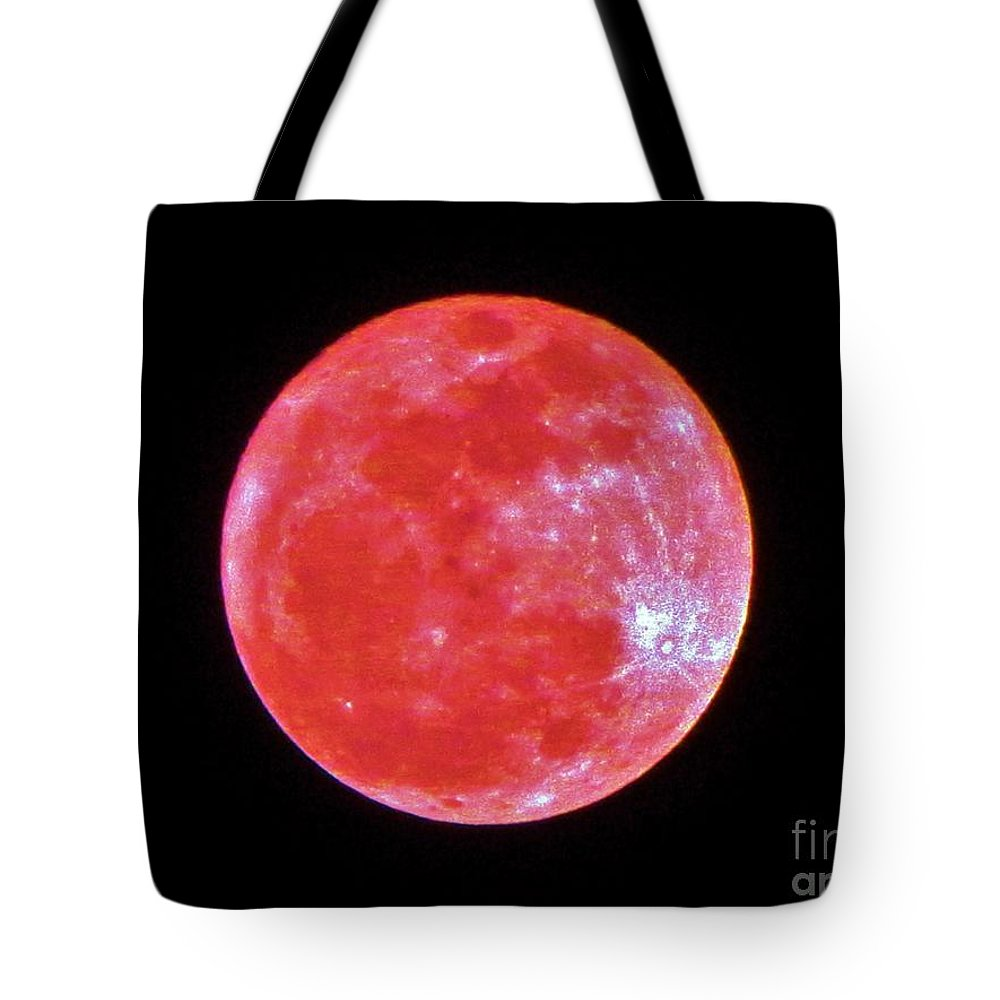 Keri West Tote Bag featuring the photograph Motherly Moon by Keri West