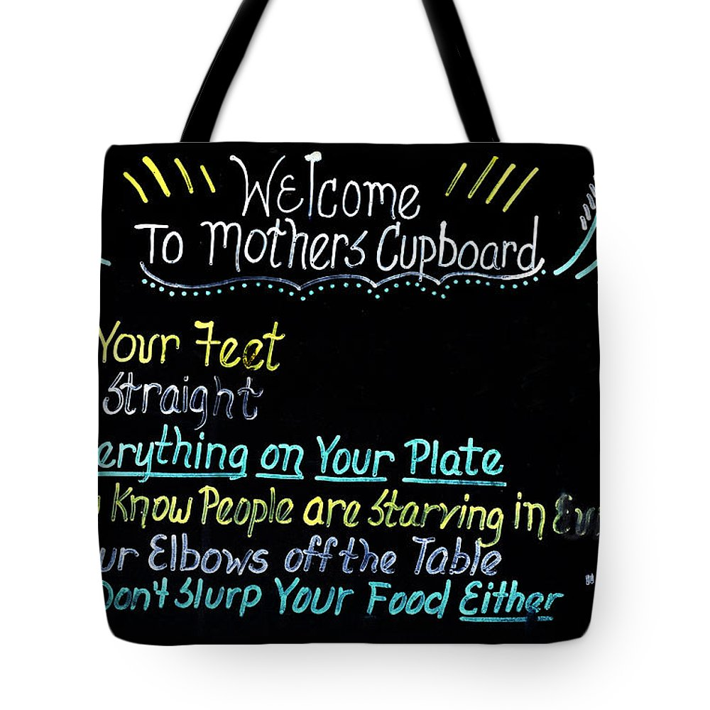 Fun Tote Bag featuring the photograph Mother's Cupboard by Carol Eade