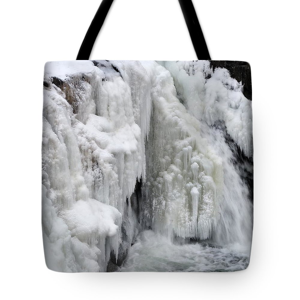Ice Tote Bag featuring the photograph Motion Frozen In Ice by Gregory Strong