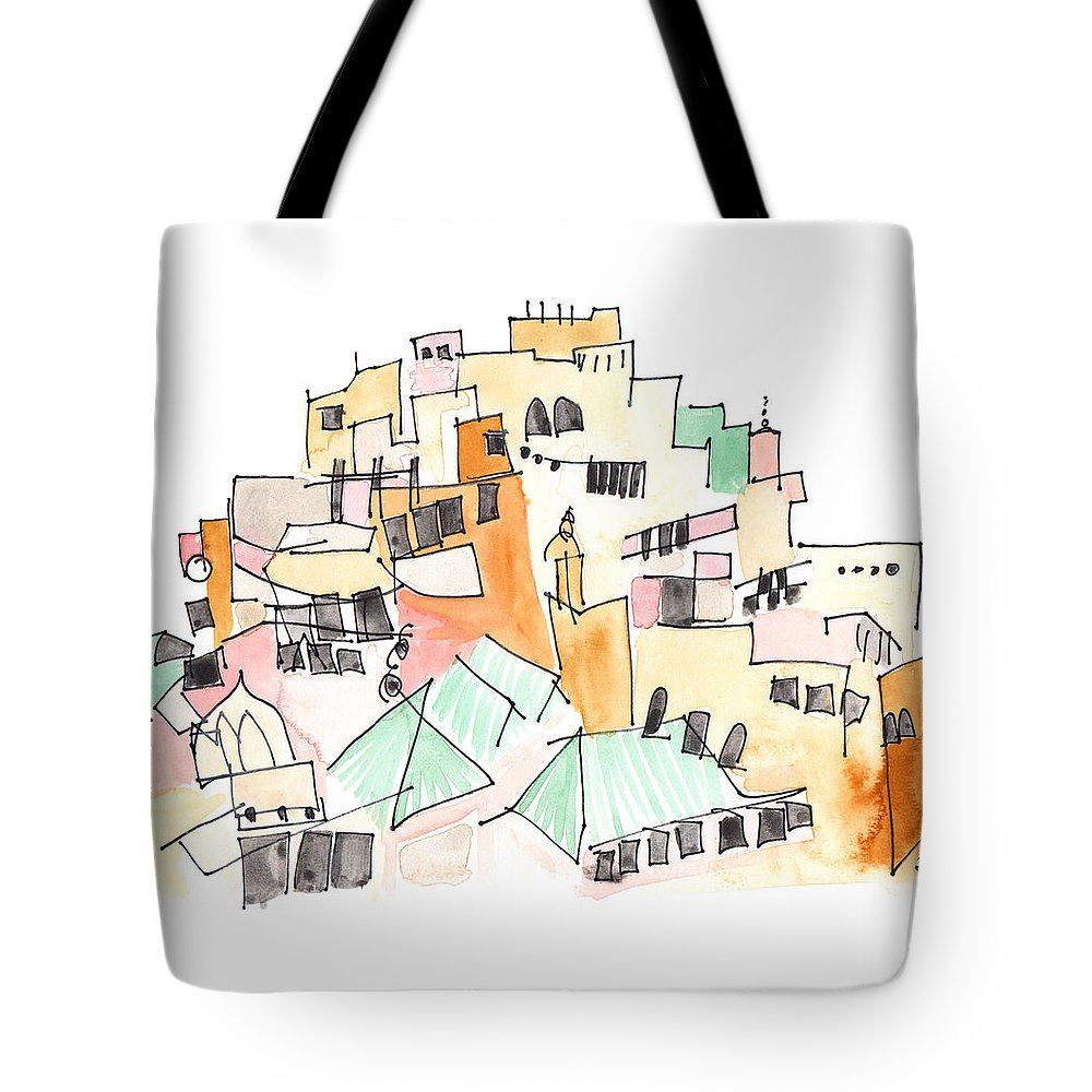 Art Tote Bag featuring the painting Moulay Idriss by Anna Elkins