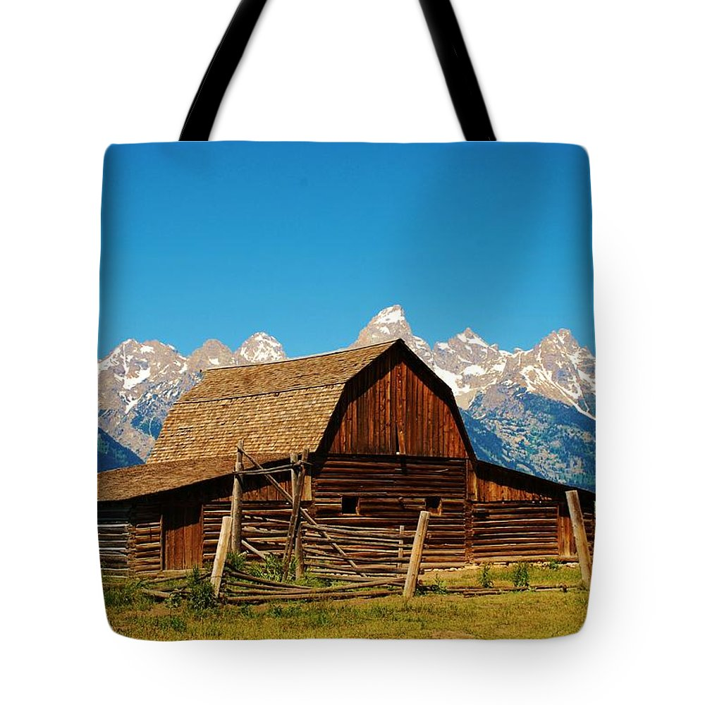 Rand Tote Bag featuring the photograph Moulton Barn by Dany Lison