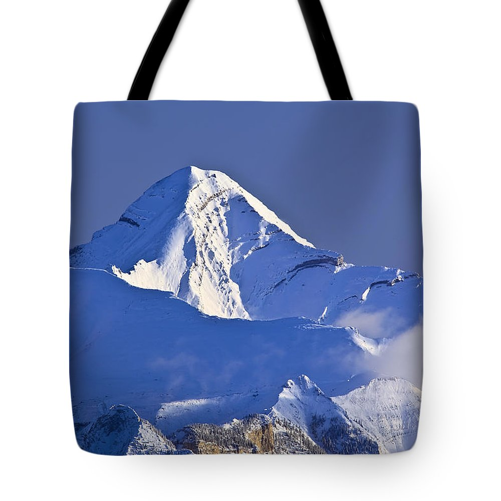 Light Tote Bag featuring the photograph Mount Aylmer, Viewed From Sulphur by Ken Gillespie