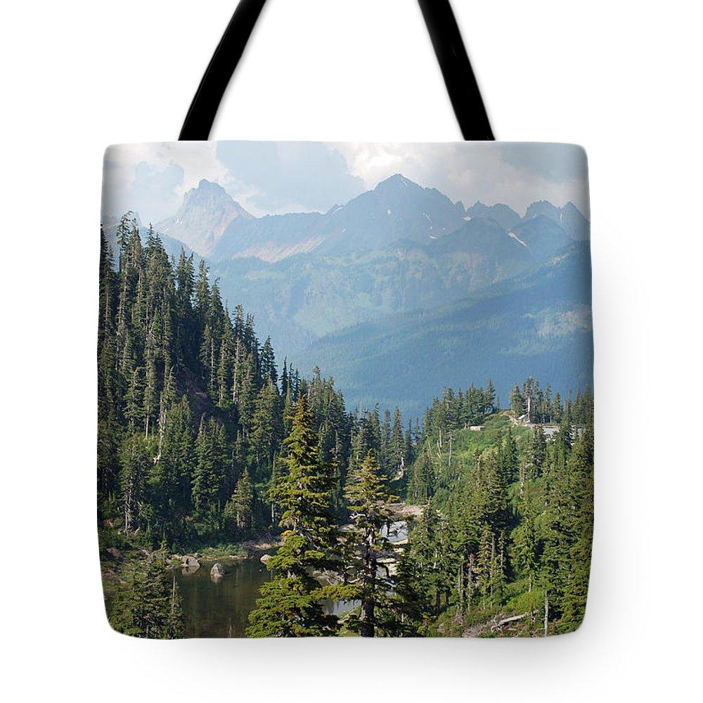 Evergreen Tote Bag featuring the photograph Mount Baker Area Washington by Carol Eliassen