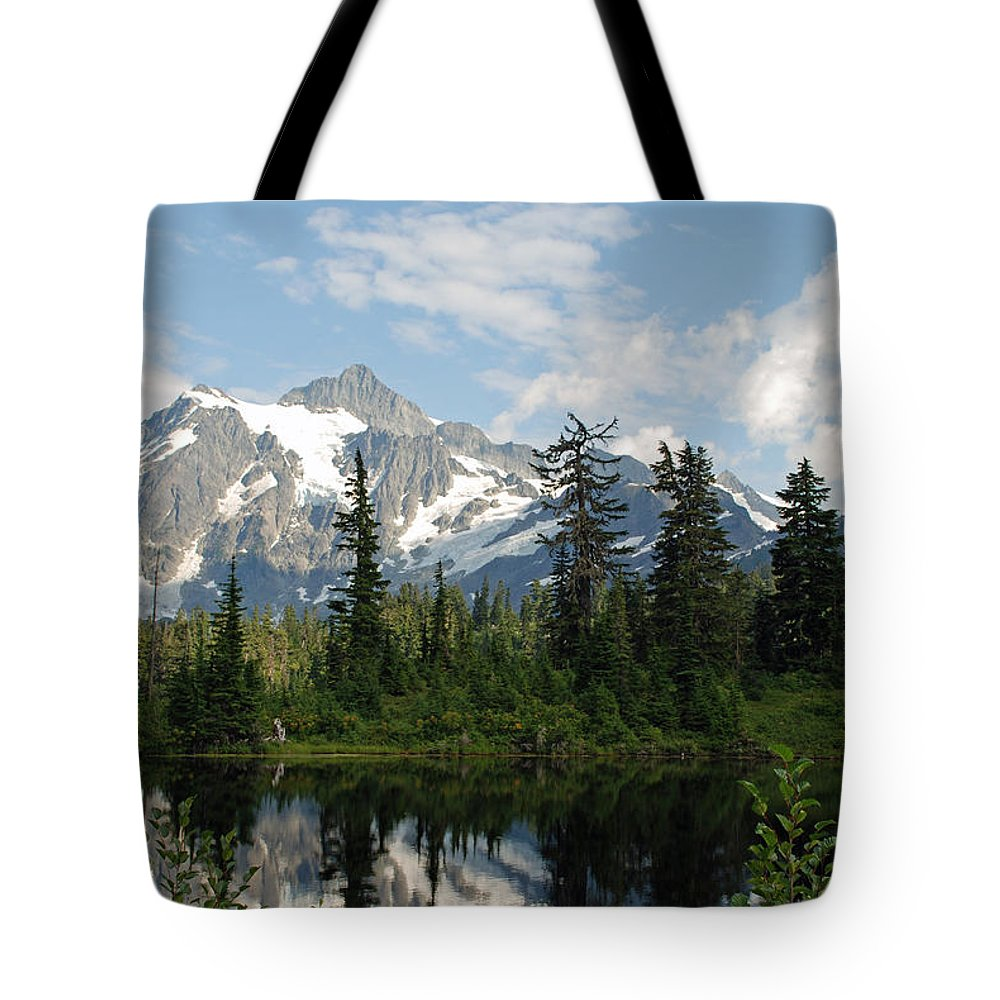 Mount Baker Tote Bag featuring the photograph Mount Baker by Carol Eliassen