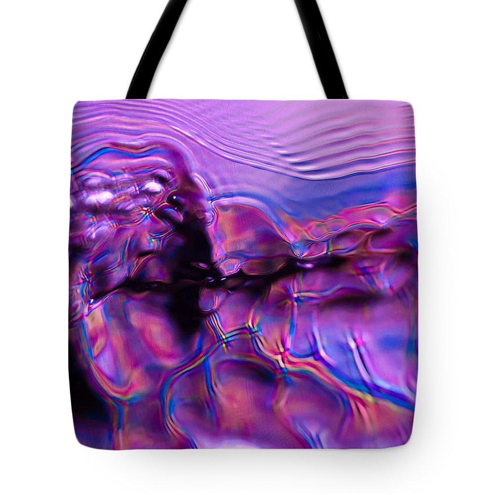Abstract Tote Bag featuring the photograph Mount Purple by Anthony Sacco