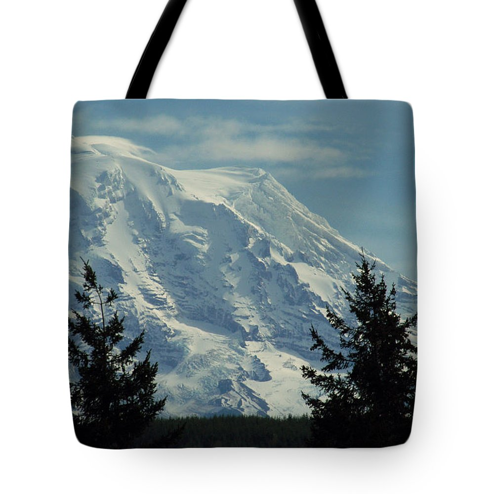 Mount Rainier Tote Bag featuring the photograph Mount Rainier From Patterson Road by Carlene Salazar